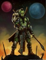 Cosmos RPG: Orc Vanguard by Olieart
