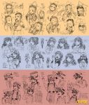 Expression sketches for Cryamore by joodlez
