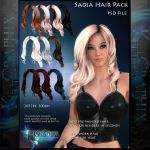 Sadia painted Hi Res 10 x Instant Hair STOCK PSD