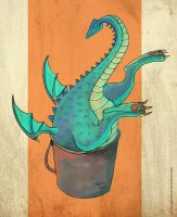 Mom, there's a dragon in my bucket. by Nimphradora