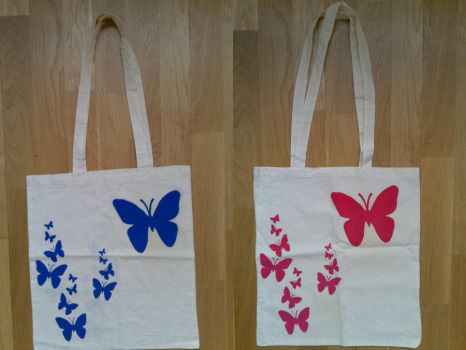 Butterfly Totes by j0ne5y