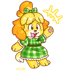 Isabelle Sticker! by raystar-draws