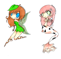 Fantasy Series: Koi and Fairy by blueToaster