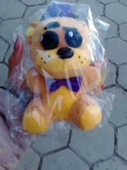 Golden Freddy plushie by xMiracleBlue