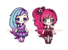 Adoptables! Pink and Purple~ by purupurin
