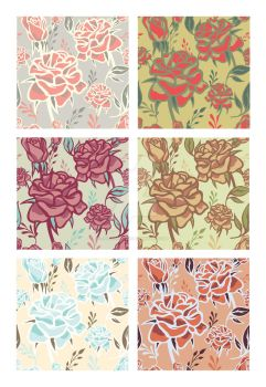 Roses Patterns by JuliaPainter