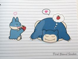 Munchlax/Snorlax Stickers and Magnets