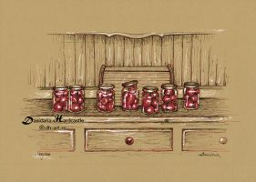 Small tomatoes in jars by dasidaria-art