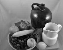Black and White fruit smudged photo by MIZTER-ROOTBEER
