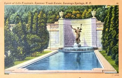 Vintage New York - The Spirit Of Life Fountain by Yesterdays-Paper