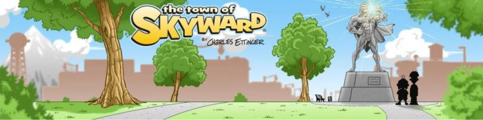 The Town of Skyward Patreon banner by CharlesEttinger