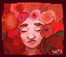 In the rose gardens - Color as Emotion entry by wouldbeetle
