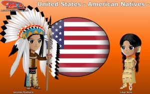 Chibi Apache people, USA - Animondos - by Dougieus