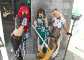 Katarina Akali and Janna League Cosplays by TinyMageIvriniel