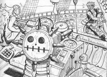 pirates at work 2 Kid by Spizzina00