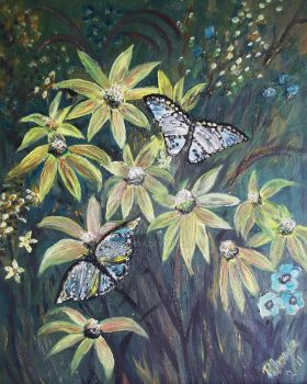 Butterflies in the Enchanted Forest by rokinronda