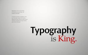 Typography is King by allonlim