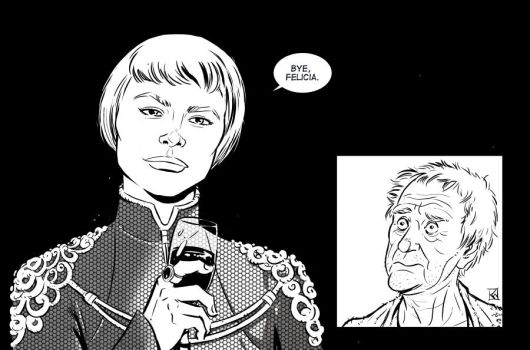 Cersei Lanister and The High Sparrow by KR-Whalen