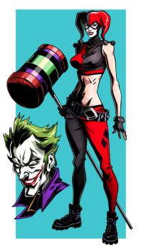 Harley Quinn Assault on Arkham fan art by CHUBETO