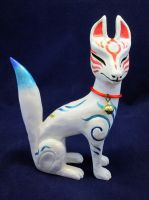 Kitsune Guardian Statue Zenko Inari by DragonCid