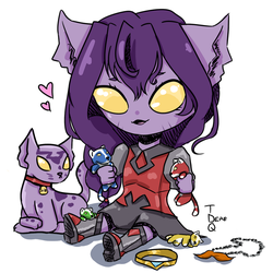 .:*Galra Kitten*:. by SaraDere