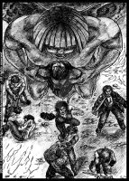 A gargoyle attacks: an unpublished art from B. IV by middaschronicles