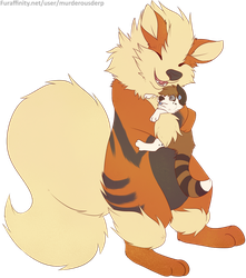 Arcanine's Special Attack Hugs :D by tar101