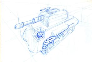tank sketch by chaitanyak