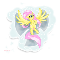 MLP Fluttershy the Cloud Angel by stec-corduroyroad