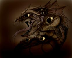 dragon estigia. by lichdrael