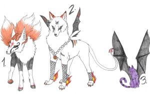 Halloween Adoptables-ADOPTED by Eclipsedwolf