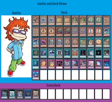 Duelist and Deck - Chuckie Finster by MarioFanProductions