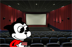 Bimbo arriving first at movie theater by MarcosPower1996