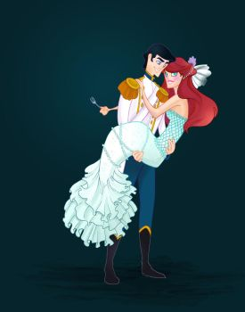 Disney Wedding: Little Mermaid by spicysteweddemon