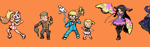Kalos Gym Leaders Battle Sprites by tebited15