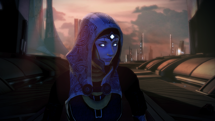 ME3 Tali Zorah Remastered Wallpaper 01 by CreativeMachinima