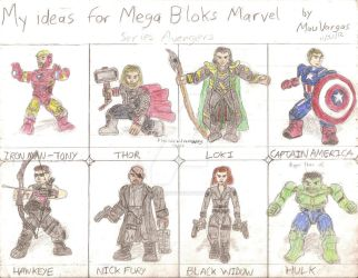 My ideas for Marvel Mega Bloks - Avengers by TheMVAproductions