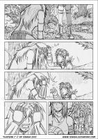 Hunters J - random comic page - BN by Tenaga