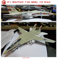 VF-1 Wolfpack F-14A Model: 1:72 scale by lonewolf3878