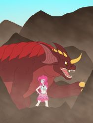 Pinkie Pie and Baragon by Pyrus-Leonidas