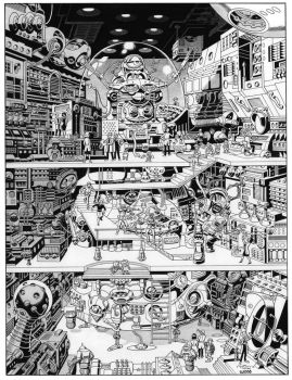 Wally Wood Super-Computer recreation by SKY-BOY