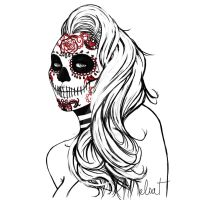 Mexican Skull by ElsaVonNarbe