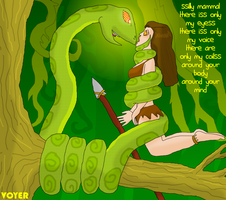Jungle girl and Hypno-snake by hypnovoyer