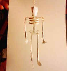 Papercraft Skeleton pendant by okamitsuki