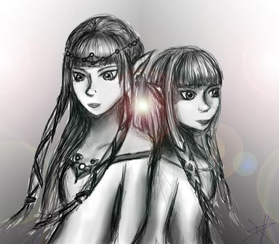 The Two Goddesses by TimshelBliss