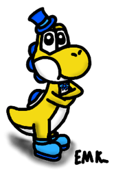 Gold the Yoshi by EndorMK