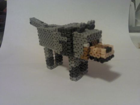 3D Minecraft Wolf -- Final by PixelSculptures