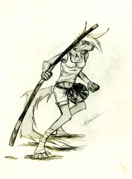pencil drawing/new scotland warrior by heart-reactor