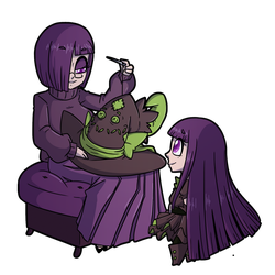 Fiona Frightening commission 28 - Mending Mother by DrCrafty