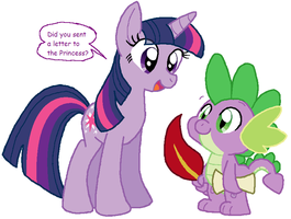 Twi and Spike by HeartinaRosebud